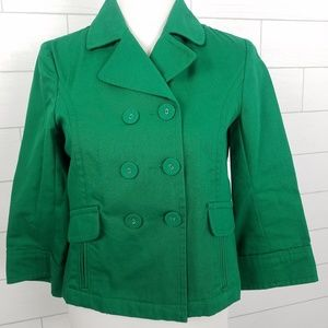 Old Navy Small Double Breasted Cotton Jacket Green